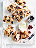 Cherry Almond and Vanilla Bean Loaf Cakes