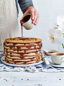 Hazelnut and Chocolate Chip Biscuits Cake