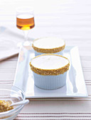 Caramel Souffles with Walnut Praline