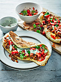 Naan wich with lamb