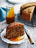 Banana Coffee Cake with Caramel Sauce