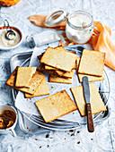 Sesame Tahini Crackers