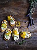 Lavender Flatbreads with Lemon Ricotta