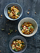 Sweetcorn medley with apple, peanuts and marjoram