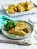 Bacon, Zucchini and Quinoa Slice