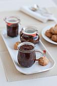Bonet e amaretti (Schokoladendessert mit Amaretti, Italien)