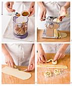Prepare girandole (baked dough rolls, Italy)