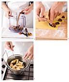 Frittierte Früchte-Ecken zubereiten