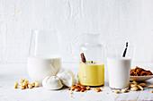 Vegane Pflanzendrinks als Milchersatz