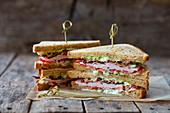 Klassisches Clubsandwich