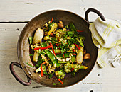 Stir-fried Thai vegetables with oyster sauce