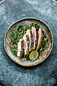 Israeli tuna fish with quinoa salad