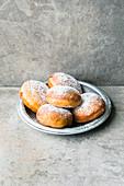 Sufganiyot (Israeli doughnuts for Hanukkah)