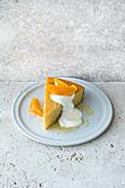 Israeli semolina cake with oranges
