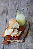 Whey and herb bread with fresh whey