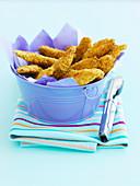 Cheesy chicken strips