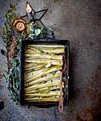 White wine and cream braised celery