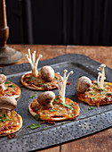 Healthy Halloween: Toadstool Pizzas