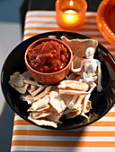 Healthy Halloween: Skeleton Crisps with Salsa