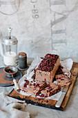 Dark Chocolate and Pomegranate Parfait