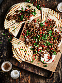 Spiced Pomegranate Lamb with Butter Bean Hummus