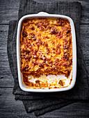 Venison lasagne