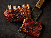 Grilled game ribs