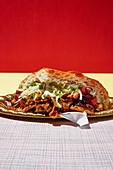Vegan kebab with seitan