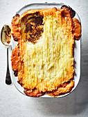 Shepherds Pie (Hackfleischauflauf mit Kartoffelpüreehaube, England)