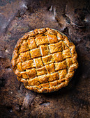 Apple Pie mit Salzkaramell und Rye Whiskey