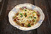 Spaghetti with garlic and chilli