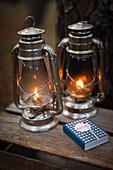 Petroleumlampen als Campingbeleuchtung