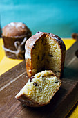 Christmas panettone with raisins