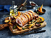Roast Pork with Port and Cranberry Sauce