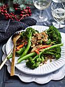 Chilli-Garlic Broccolini with Quinoa Pangrattato