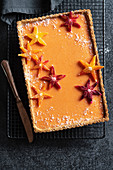 Coconut and orange tart