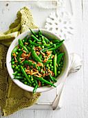 Peas and Beans with Almonds