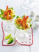 Garlic prawn cocktail