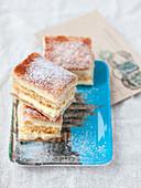 Vanilla cream slices