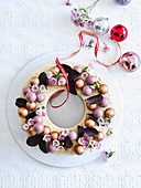 Coffee Ice-Cream Christmas Wreath