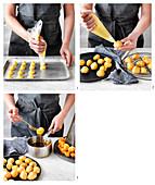 Preparing Croquembouche