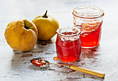Quince Jelly with Quinces and toast