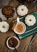 Coffee with cinnammon