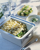 Broccoli and cauliflower terrine