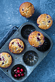 Muffns with cranberry and white chocolate