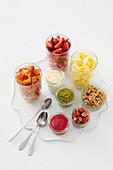 Ingredients for a fruit salad