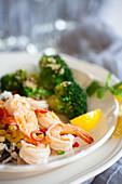 Lemon risotto with shrimps