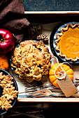 Gluten Free Mini Pumpkin and Apple Pies