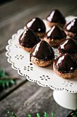 Schwedische Schokoladenplätzchen mit Schokoglasur