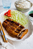 Tonkatsu sliced (Schnitzel from Japan)